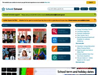 schools.leicester.gov.uk screenshot