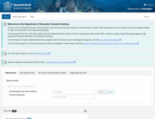 schoolsdirectory.eq.edu.au screenshot