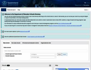 schoolsdirectory.eq.edu.au screenshot
