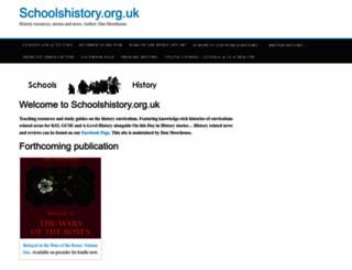 schoolshistory.org.uk screenshot