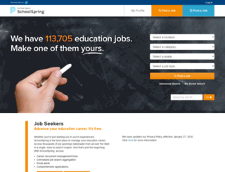 schoolspring.com screenshot