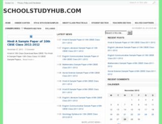 schoolstudyhub.com screenshot