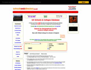 schoolswebdirectory.co.uk screenshot
