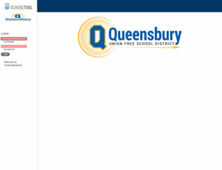 schooltool.queensburyschool.org screenshot