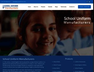 schooluniformmanufacturers.in screenshot