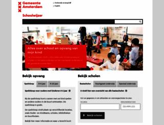 schoolwijzer.amsterdam.nl screenshot