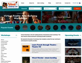 schoolworkshops.com screenshot