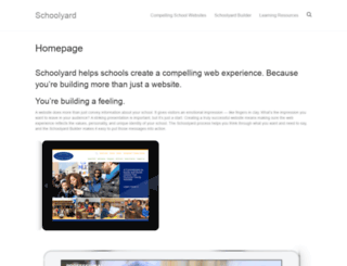 schoolyard.com screenshot