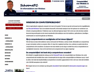 schoonepc.nl screenshot