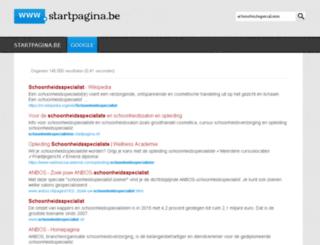 schoonheidsspecialisten.startpagina.be screenshot
