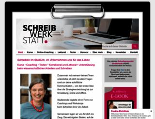 schreibwerkstatt.co.at screenshot