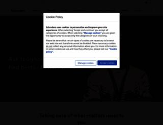 schroders.com screenshot