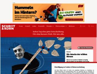 schrotundkorn.de screenshot