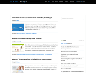 schufa-und-finanzen.net screenshot