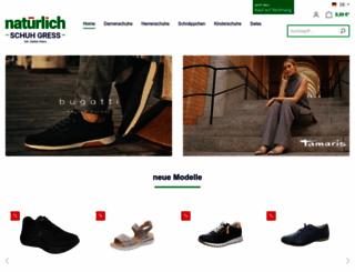 schuh-gress.de screenshot