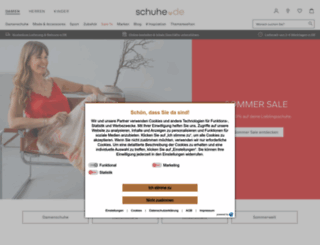 schuhe.de screenshot