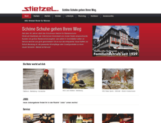 schuhhausstietzel.de screenshot