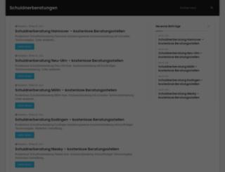 schuldnerberatungen.net screenshot
