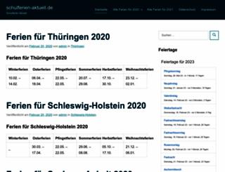 schulferien-aktuell.de screenshot