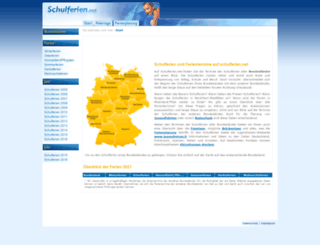 schulferien.net screenshot