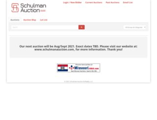 schulmanauction.hibid.com screenshot