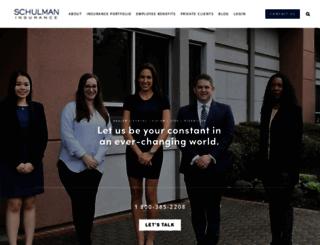 schulmaninsurance.com screenshot