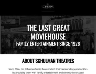 schulmantheatres.com screenshot