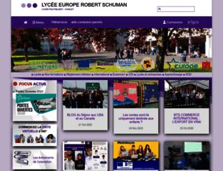 schuman.e-lyco.fr screenshot