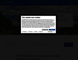 schurter.com screenshot