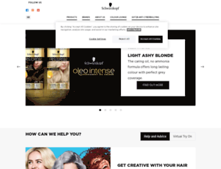 schwarzkopf.co.uk screenshot