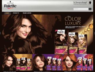 schwarzkopfpalette.com screenshot