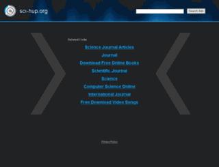 sci-hup.org screenshot
