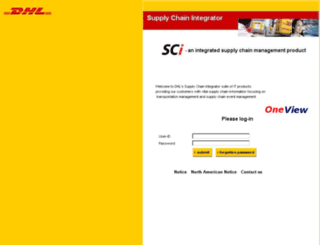 sci.dhl.com screenshot