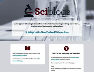 sciblogs.co.nz screenshot