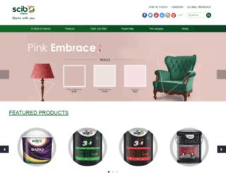 scibpaints.com screenshot
