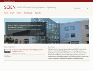 scien.stanford.edu screenshot