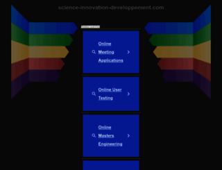 science-innovation-developpement.com screenshot