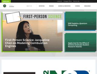 science.energy.gov screenshot