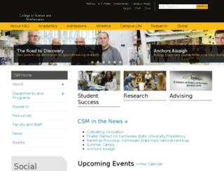 science.kennesaw.edu screenshot