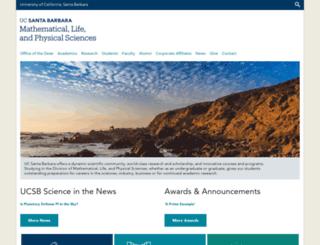 science.ucsb.edu screenshot