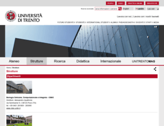 science.unitn.it screenshot