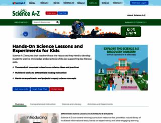 sciencea-z.com screenshot