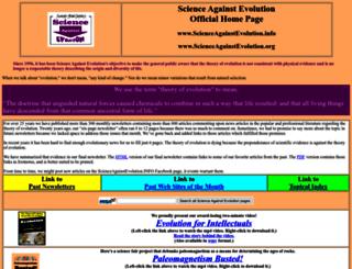 scienceagainstevolution.info screenshot