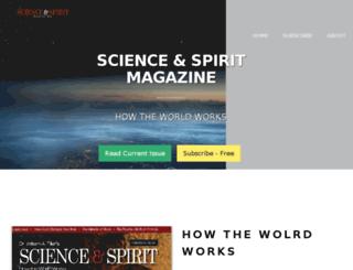 scienceandspiritmag.com screenshot