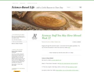 sciencebasedlife.wordpress.com screenshot
