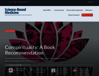sciencebasedmedicine.org screenshot
