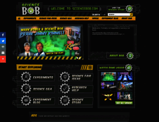 sciencebob.com screenshot