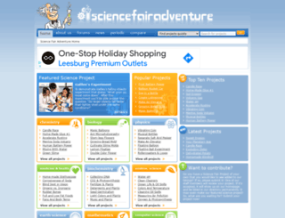 sciencefairadventure.com screenshot