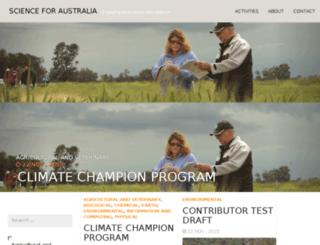 scienceforaustralia.com screenshot
