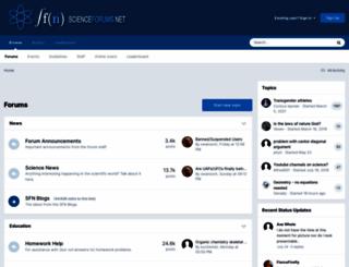 scienceforums.net screenshot
